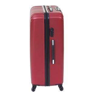 3er Set Koffer HWC-D54a, Reisekoffer Hartschalenkoffer Trolley Handgepäck, Höhe 72/60/50cm - Vorschau 5