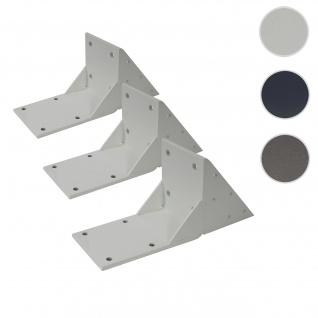 3x Dachsparrenadapter für Kassetten-Markise T124, Dachsparren Halterung Adapter ~ weiß