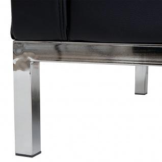 3-1-1 Sofagarnitur HWC-C19, Modular-Sofa Loungesofa, erweiterbar Kunstleder schwarz - Vorschau 4