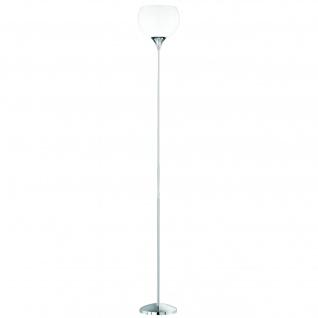 Reality Trio Deckenfluter Stehlampe in chrom, Acrylschirm weiß