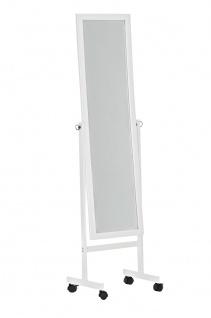 Standspiegel CP350, Ankleidespiegel Spiegel, Holz ~ weiß