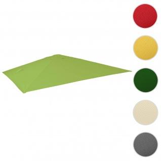 Bezug für Luxus-Ampelschirm HWC-A96, Sonnenschirmbezug Ersatzbezug, 3, 5x3, 5m (Ø4, 95m) Polyester 4kg ~ hellgrün