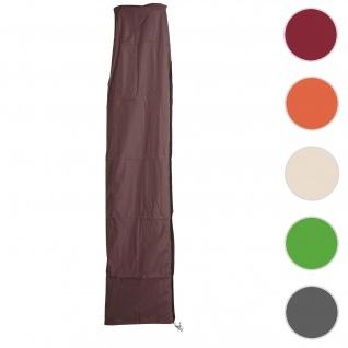 Schutzhülle HWC für Ampelschirm bis 3, 5 m, Abdeckhülle Cover mit Reißverschluss ~ braun
