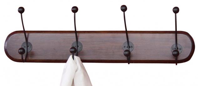 Wandgarderobe H57, Garderobenpaneel Garderobe, 20x70x11cm dunkelbraun