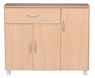 Sideboard A050 Kommode Schrank, 90 x 75 cm mit 3 Türen & 1 Schublade - Vorschau 4