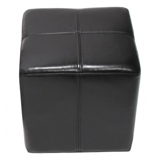Sitzwürfel Hocker Sitzhocker Onex, LEDER
