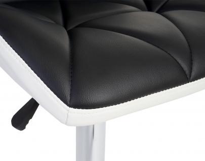 2x Barhocker HWC-A92, Barstuhl Tresenhocker, höhenverstellbar Kunstleder ~ schwarz - Vorschau 4