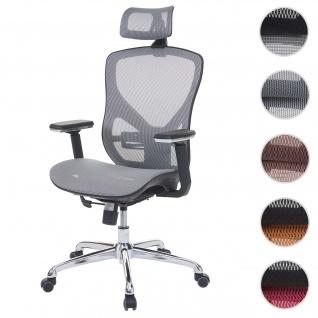 Bürostuhl HWC-A61, Schreibtischstuhl, Sliding-Funktion Stoff/Textil ISO9001 ~ grau/grau