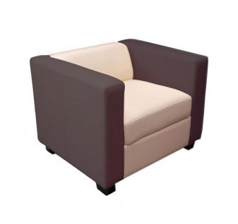 Sessel Lounge-Sessel Lille Kunstleder creme/coffee