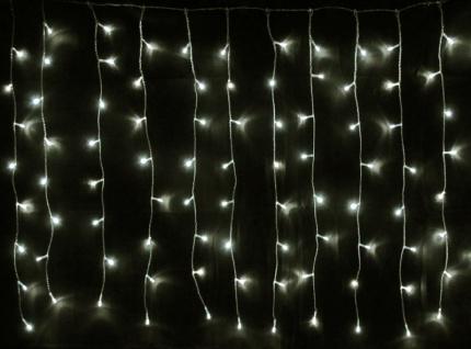 LED Lichterkette LD08, Lichtervorhang, Leuchtkette, für Außen und Innen ~ 160 LEDs, warmweiß
