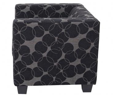 3-1-1 Sofagarnitur Couchgarnitur Loungesofa Lille, Textil grau/schwarz - Vorschau 3