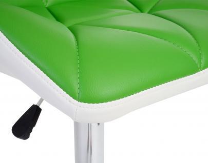 2x Barhocker HWC-A92, Barstuhl Tresenhocker, höhenverstellbar Kunstleder ~ grün - Vorschau 4