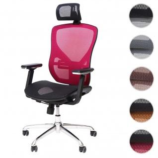 Bürostuhl HWC-A61, Schreibtischstuhl, Sliding-Funktion Stoff/Textil ISO9001 ~ schwarz/rot