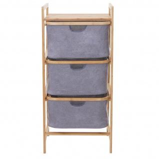 Wäschesammler HWC-B56, Regal Wäschesortierer Wäschekorb Badregal Aufbewahrung, Bambus 96x44x34cm 78l - Vorschau 5