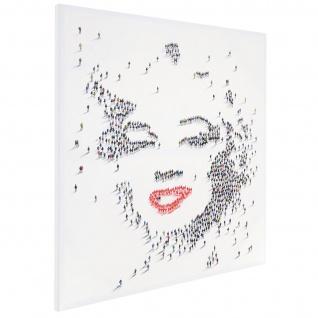 Ölgemälde Marilyn, 100% handgemalt XL, 100x100cm - Vorschau 4