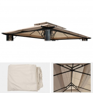 Ersatzbezug für Dach Pergola Pavillon Mira creme