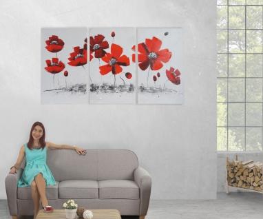 Ölgemälde Mohnblume, 100% handgemaltes Wandbild XL, 165x90cm - Vorschau 5