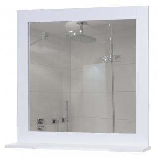Wandspiegel mit Ablage HWC-C66, Badezimmer Badspiegel, 58x60cm weiß