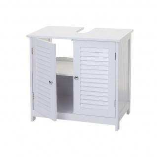 Badezimmerset HWC-F75, Badmöbel-Set 2x Hochschrank Waschbeckenunterschrank Wandspiegel, Landhaus weiß - Vorschau 4