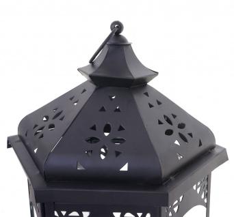 3er Set Laterne HWC-B35, Windlicht Gartenlaterne, Metall Höhe 44/33/24cm - Vorschau 4
