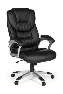Bürostuhl A065, Chefsessel Drehstuhl, Kunstleder, Lendenwirbelstütze weiß