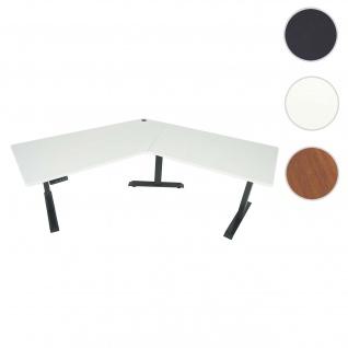 Schreibtisch HWC-D40, Computertisch, 120° elektrisch höhenverstellbar ~ weiß, anthrazit-grau