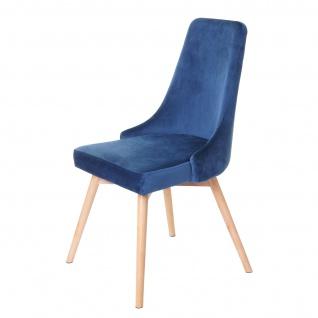 6x Esszimmerstuhl HWC-B44, Stuhl Küchenstuhl, Retro 50er Jahre Design Samt - Vorschau 5