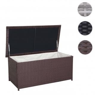 Poly-Rattan Kissenbox HWC-D43, Truhe Auflagenbox Gartentruhe, 51x115x58cm 220l braun - Vorschau 1