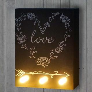 LED-Bulb Bild Leuchtbild, Wandbild 25x20cm, Love