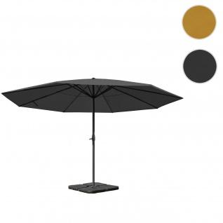 Sonnenschirm Meran Pro, Gastronomie Marktschirm ohne Volant Ø 5m Polyester/Alu 28kg ~ anthrazit mit Ständer