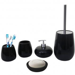 5-teiliges Badset HWC-C72, WC-Garnitur Badezimmerset Badaccessoires, Keramik - Vorschau 2