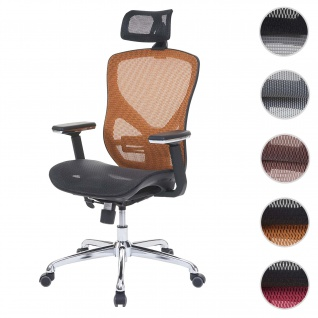 Bürostuhl HWC-A61, Schreibtischstuhl, Sliding-Funktion Stoff/Textil ISO9001 ~ schwarz/orange