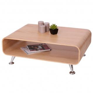 Couchtisch HWC-B97 XXL, Tisch Loungetisch Club Tisch, 33x90x60cm Eiche natur - Vorschau 2