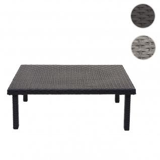 Poly-Rattan Couchtisch HWC-G16, Gartentisch Balkontisch Loungetisch, Gastronomie 80x50cm ~ schwarz