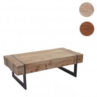Couchtisch HWC-A15a, Wohnzimmertisch, Tanne Holz rustikal massiv 40x120x60cm ~ naturfarben