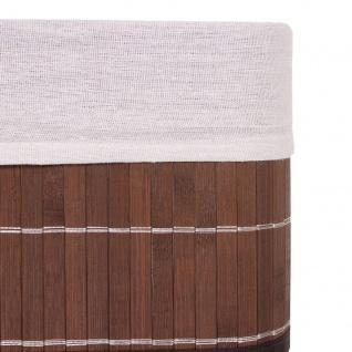 4x Aufbewahrungskorb HWC-C21, Korb Aufbewahrungsbox Ordnungsbox Sortierbox Regalkorb, Bambus braun - Vorschau 4