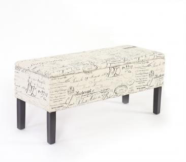 Bank Sitzbank Renens Stoff/Textil 95x36x44 cm ~ Schriftzug
