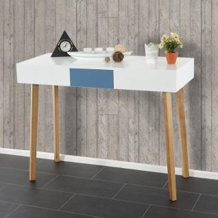 Kommode Malmö T257, Schrank Beistelltisch, Retro-Design 82x120x55cm, Schublade blau