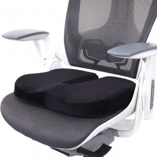 Sitzkissen HWC-D11, Stuhlkissen Sitzerhöhung Sitzpolster Sitzauflage für Bürostuhl Auto, Memory Schaum Samt schwarz