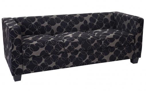3-1-1 Sofagarnitur Couchgarnitur Loungesofa Lille, Textil grau/schwarz - Vorschau 4