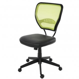 Profi-Bürostuhl Seattle, 150kg belastbar, Kunstleder ~ grün ohne Armlehnen