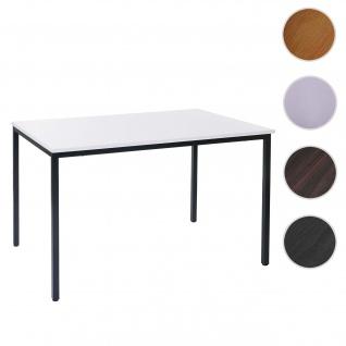 Schreibtisch Braila, Konferenztisch Bürotisch Seminartisch, 120x80cm MDF ~ weiß
