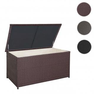 Poly-Rattan Kissenbox HWC-D88, Gartentruhe Auflagenbox Truhe ~ Premium braun, 80x160x94cm 950l