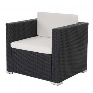 Modulares Poly-Rattan Sofa Rom Basic, Sessel, 75x80x71cm anthrazit