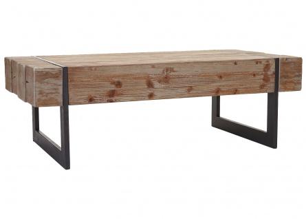 Couchtisch HWC-A15a, Wohnzimmertisch, Tanne Holz rustikal massiv 40x120x60cm ~ naturfarben - Vorschau 3