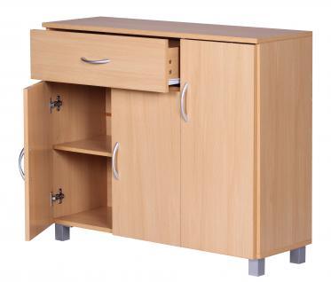 Sideboard A050 Kommode Schrank, 90 x 75 cm mit 3 Türen & 1 Schublade - Vorschau 2