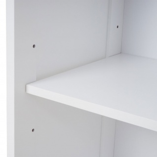Kommode HWC-F75, Badezimmer Badschrank Badezimmerkommode, Staufach Landhaus 88x32x30cm weiß - Vorschau 5