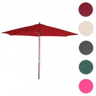 Sonnenschirm Florida, Gartenschirm Marktschirm, Ø 3m Polyester/Holz ~ bordeaux
