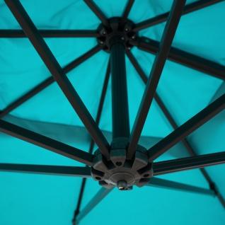 Gastronomie-Ampelschirm HWC-A39, Sonnenschirm, schwenkbar drehbar Ø 3, 5m Polyester/Alu 34kg - Vorschau 5