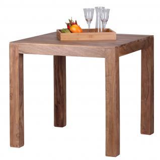 Esszimmertisch Konya, Tisch Esstisch, Akazie Massivholz, 76x80x80cm